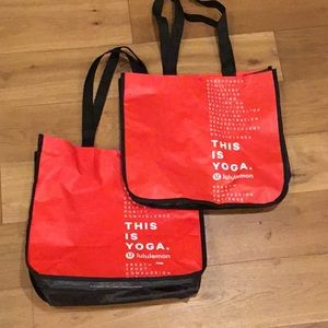 Lot of 2  Lululemon this is yoga tote bags red